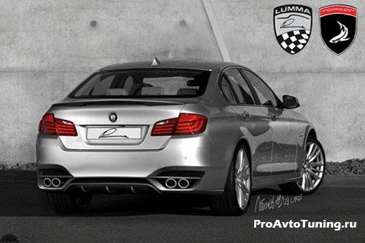 BMW вид сзади