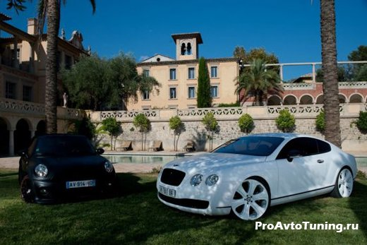 Bentley Continental GT и Mini Cooper Cabrio