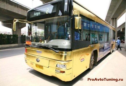золотой автобус в Китае
