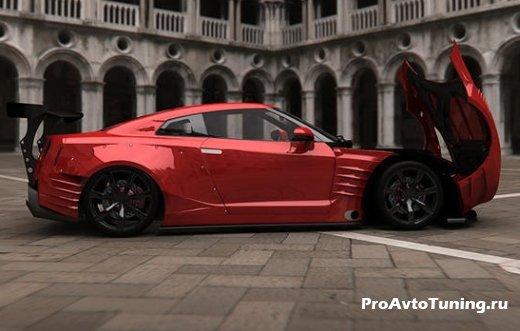 мощный Nissan GT-R