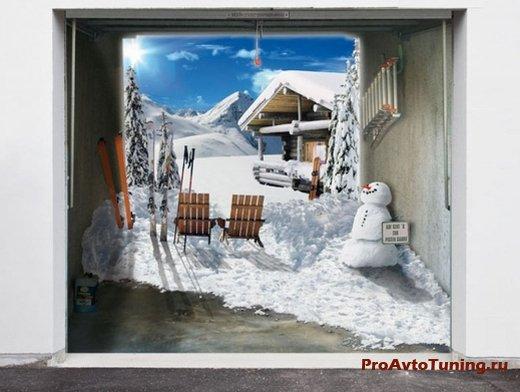 пример тюнинга гаражных дверей