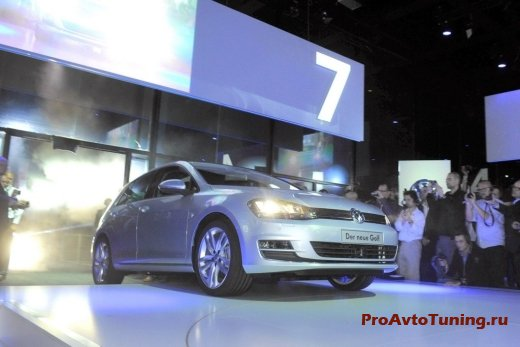 премьера Volkswagen Golf 2013 года
